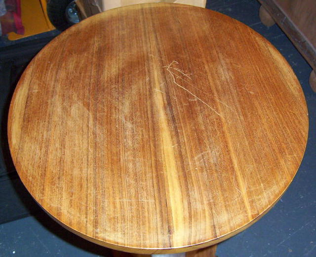 French Art Deco Mahogany Side Table