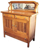 Antique Country Arts and Crafts Oak Sideboard