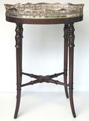 Vintage Tea Table with Silverplate Tray