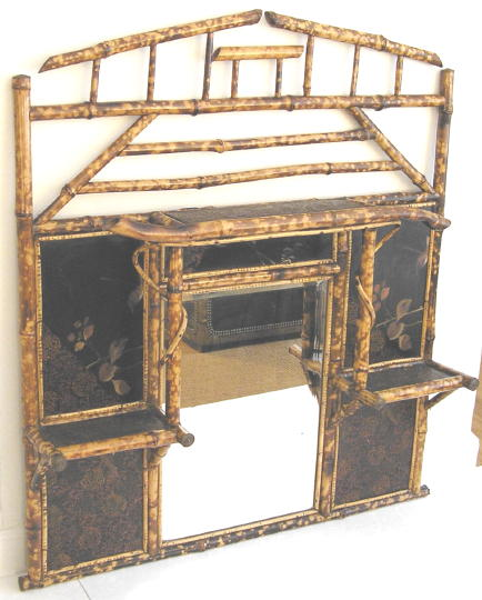Antique Asian Japanese Bamboo Mirror