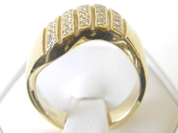 Vintage 14K Gold Ring with 25 Diamonds