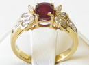 Vintage Oval Cut Ruby 18K Gold Ring