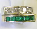 Vintage Emerald & Diamond 14K Gold Ring