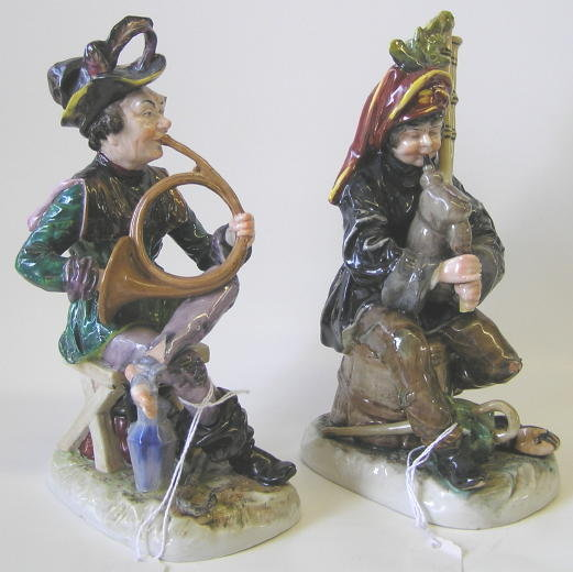 Pair Capodimonte Musician Figurines