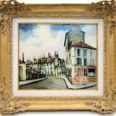 Elisee Maclet Impressionist French Montmartre Paris Cityscape Oil Painting