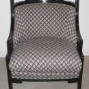 Jay Spectre Black Lacquered Chinoiserie Wallis Armchair for Century