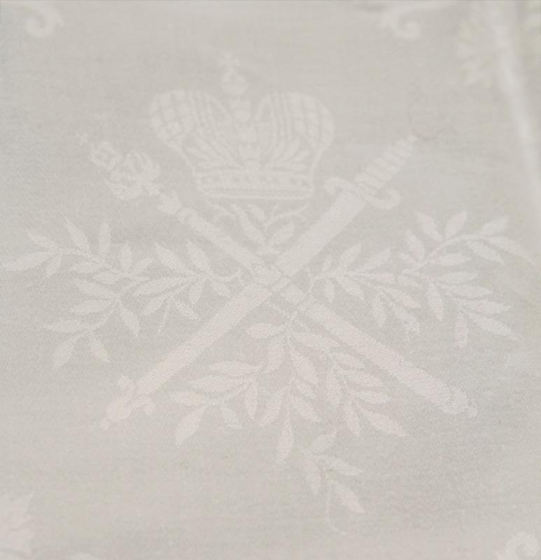 Set Emperor Alexander III and Tsar Nicholas II Imperial Russian Commemorative Table Linens
