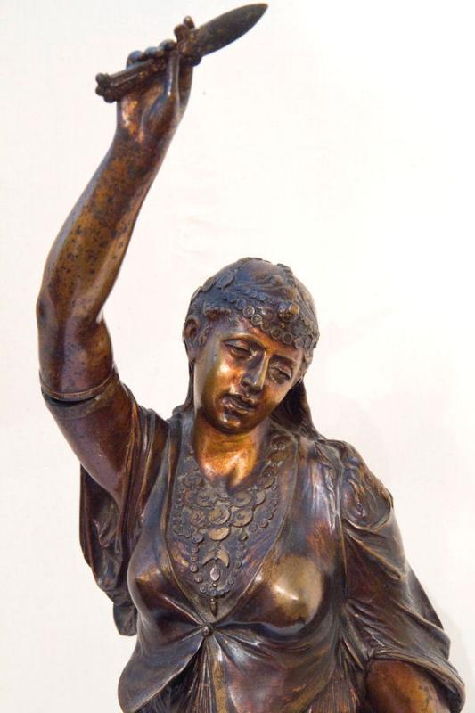 Orientalist Bronze Sculpture of Egyptian Dancer by Lalouette