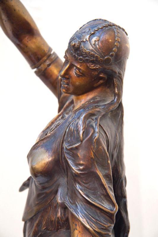 Orientalist Bronze Sculpture of Egyptian Dancer by Lalouette