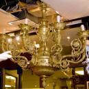 Antique Gilt Bronze Neoclassical Regence Style Chandelier