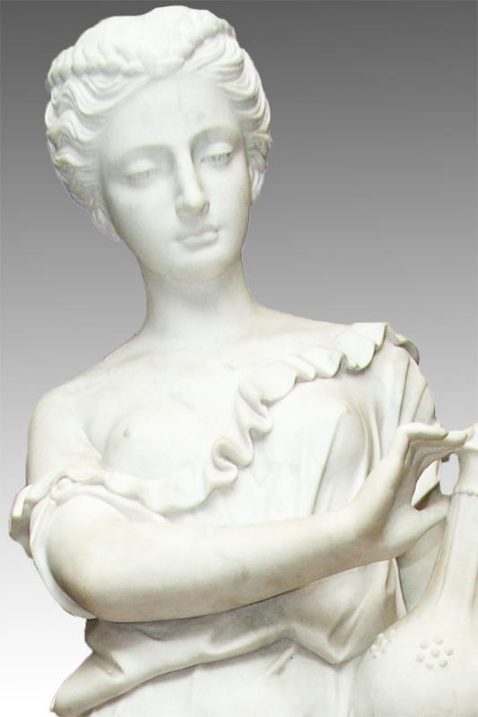L'Orfèvrerie (Goldsmithery) Marble Statue After Roland Mathieu-Meusnier (1824-1896)