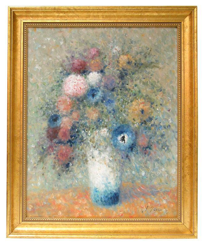 Andre Gisson Impressionist Floral Still Life Oil Painting