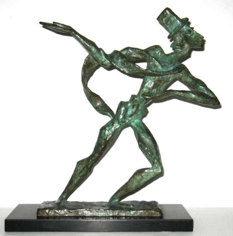 Estelle Goodman Expressionist Mid-Century Bronze Figurine Sculpture