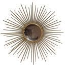 Vintage French Mid-Century Modern Brass Starburt Mirror by Chaty Villauris