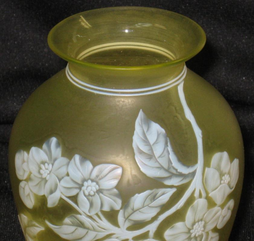 Thomas Webb and Sons Cameo Glass Vase