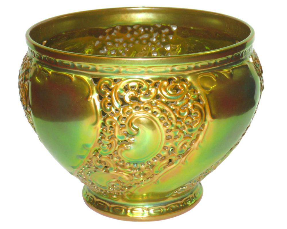 Zsolnay Art Nouveau Lustre Glaze Centerpiece Bowl