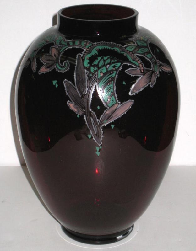 Art Deco Ruby Red Glass by Emmy Seyfried (1888-)