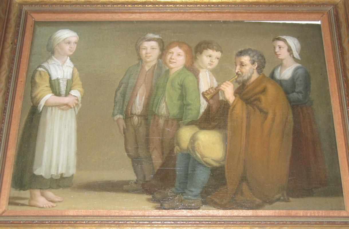 de Brancki French Oil Painting on Panel After The Village by Renaissance Master Antoine Le Nain