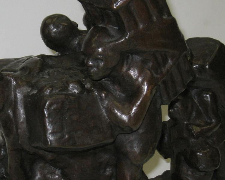 Frederic Guinzburg (1897-1989 Social Expressionist Bronze Sculpture of Latin American Peasants