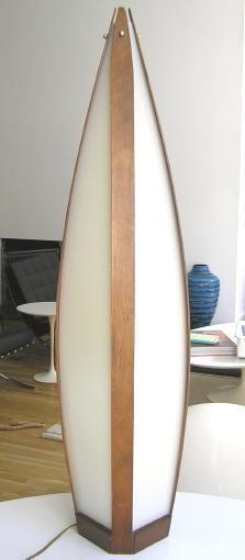 Modeline Mid-Century Modern Teak Table Lamp in Danish Style