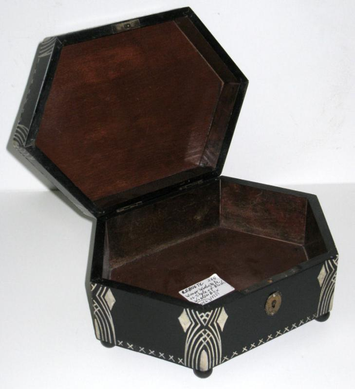 Dagobert Peche Attributed Secessionist Arts & Crafts Period Ebonized Jewelry Box