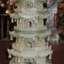 Antique Chinese Serpentine Stone Buddhist Pagoda Censer