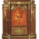 Palatial Antique French Louis XVI Style Armoire Cabinet After Benneman