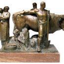 Giovanni Nicolini (1872-1956) Italian Social Realist Bronze Sculpture
