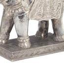 Indian Elephant Form Silver Glad Table Lamps