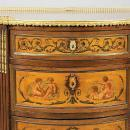 Antique Demilune Adam Style Vernis Martin Style Painted Chest of Drawers