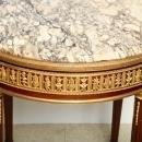 Antique Louis XVI Style Marble Top and Bronze Side Table