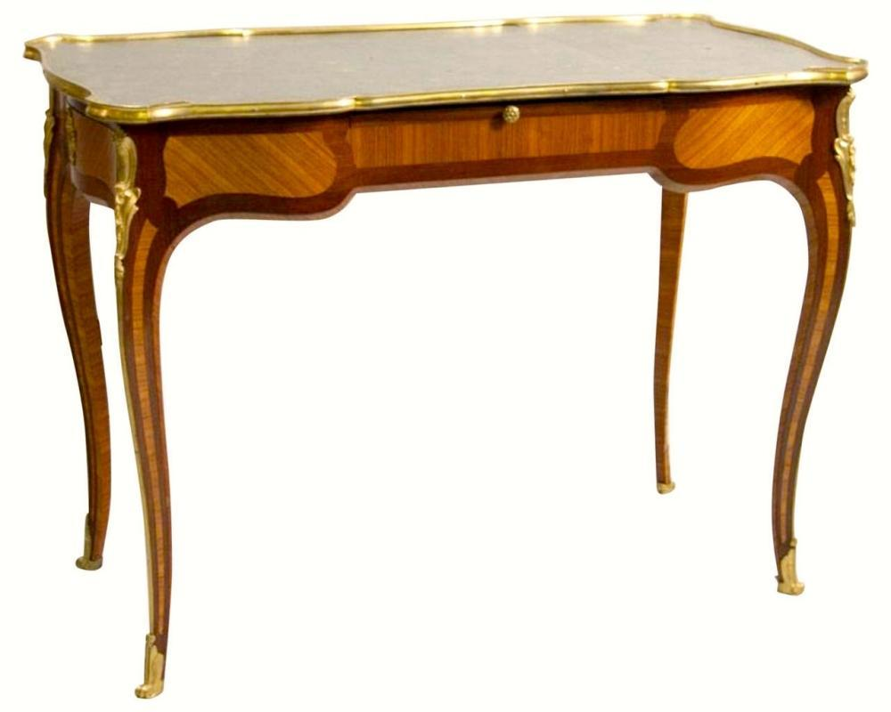Antique Louis XV Bronze Mounted Writing Desk by Beurdeley of Paris