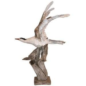 Seagull Driftwood Sculpture by Sybille Leary (1932-2012)