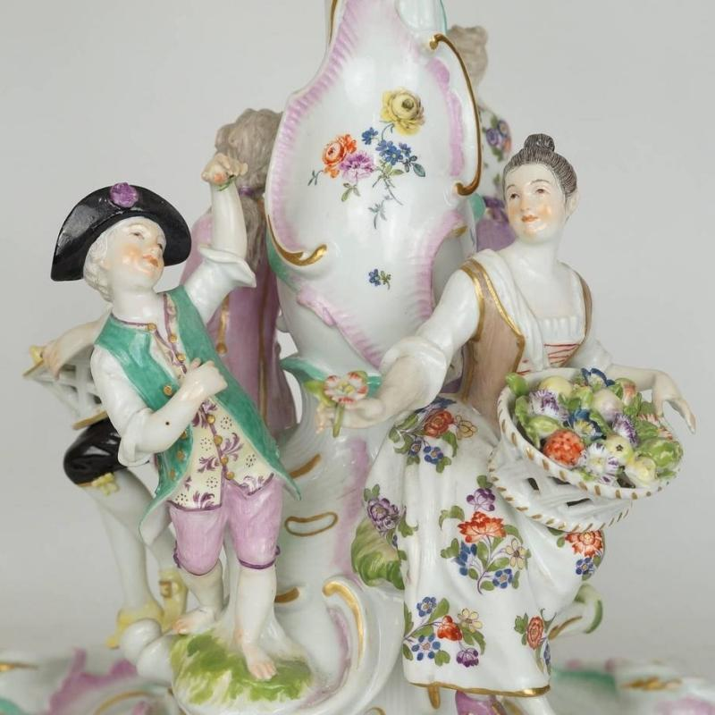 Antique Meissen Figural Centerpiece Tazza