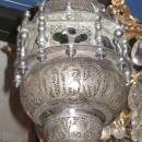 Antique Persian Silverplated Lantern / Hanging Lamp