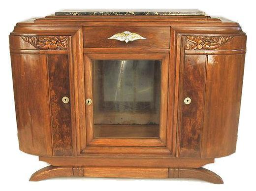 c1930s French Art Deco Walnut Sideboard