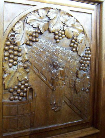 French Art Deco Carved Walnut Sideboard