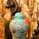 Pair Chinese Famille Rose Porcelain Table Lamps