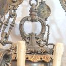 Antique 12-Light French Empire Style Bronze and Brass Chandelier