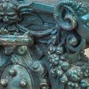 Pair Monumental Baroque Style Patinated Bronze Floor Candelabra