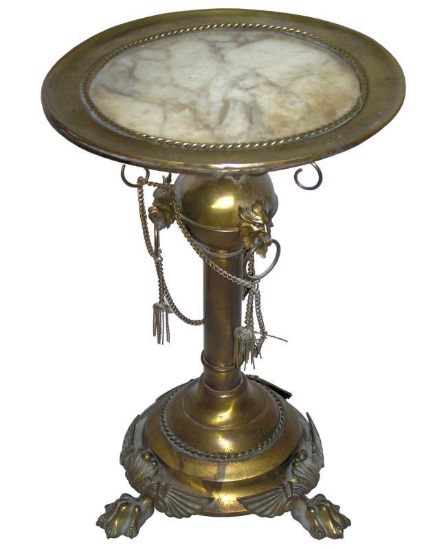 Classical Brass & Marble Gueridon Table