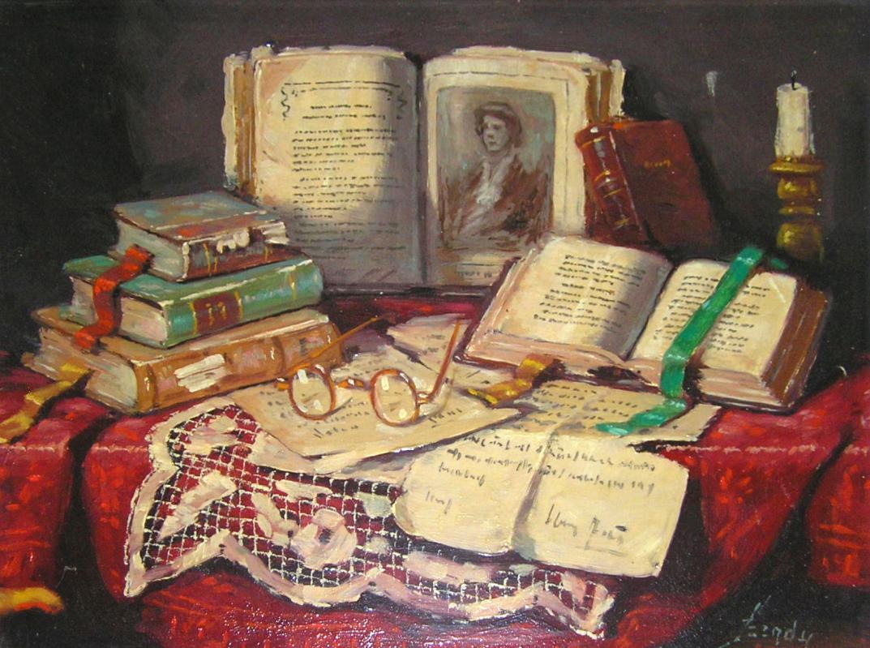 Arisztid Szendy (1903-1972) Hungarian-American Still Life Oil Painting