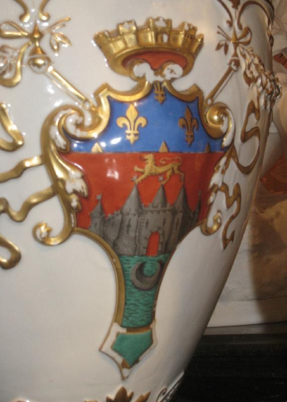 Limoges Guerin et Cie French Algerian Porcelain Vase