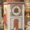 Antique French Orientalist Porcelain Mantel Clock for Islamic Market