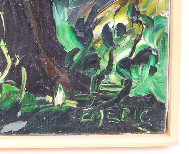 Emeric (1919-2012) French Wooded Landscape Painting