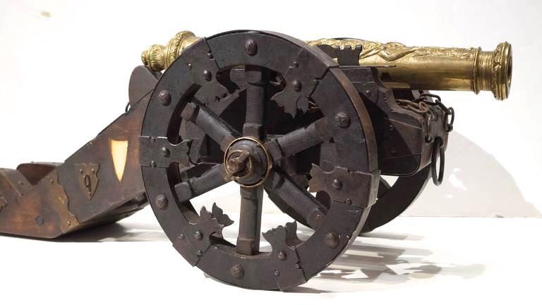 Antique 18th Century Style European Miniature Cannon