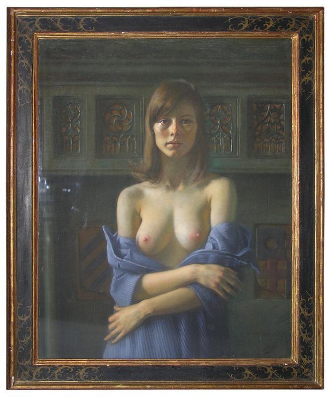 Sophia Pastel Portrait by Daniel Greene Circa 1970