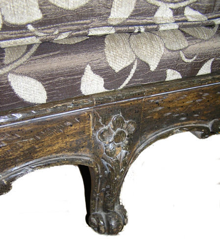 Antique Louis XVI Chaise Lounge Day Bed / Sofa