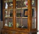 Dutch Rococo Burled Walnut Bookcase