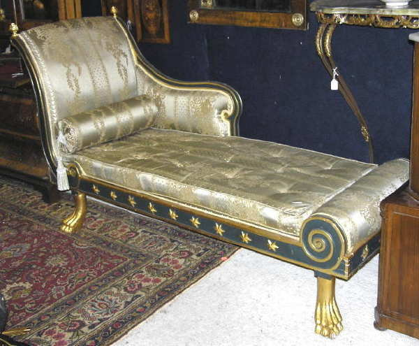 Louis XVI Chaise Lounge Day Bed Recamier